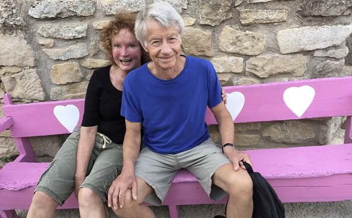 Mary Balfour and Husband Sebastian Love Bench